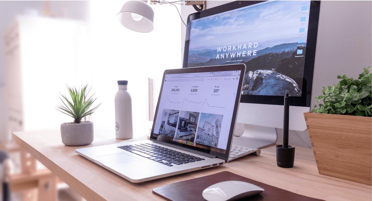 Affiliate Marketing Statistics - Remote work setup