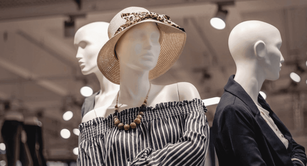 Apparel Industry Statistics - Clothes on mannequins