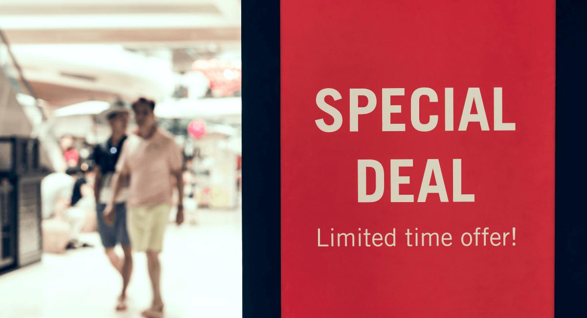 Coupon Statistics - Special deal sign