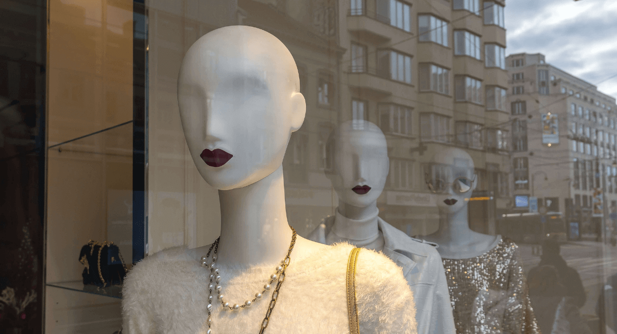 Luxury Shopping Statistics - mannequins in a luxury store